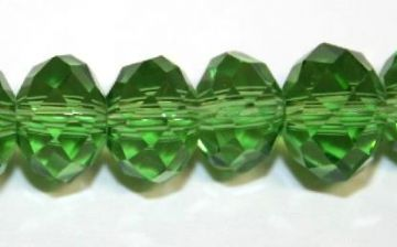 72pcs x 10mm Green rondelle faceted glass beads -- S.J -- 3005714
